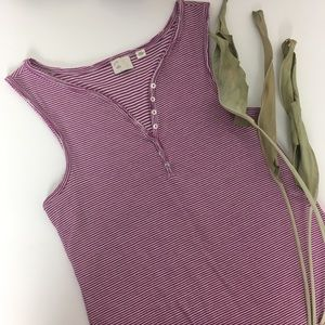 Anthropologie, Postmark striped tank, raw edge